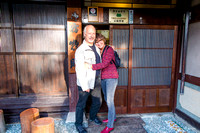 In front of our Ryokan in Takayama