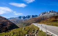 Furka Pass Highway on the way up.